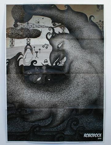 unfold poster illustration robodock
