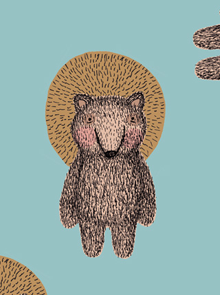 oh bear me bear illustration pattern