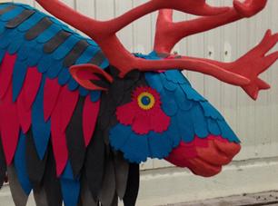 reindeer, Icelandic, sculpture