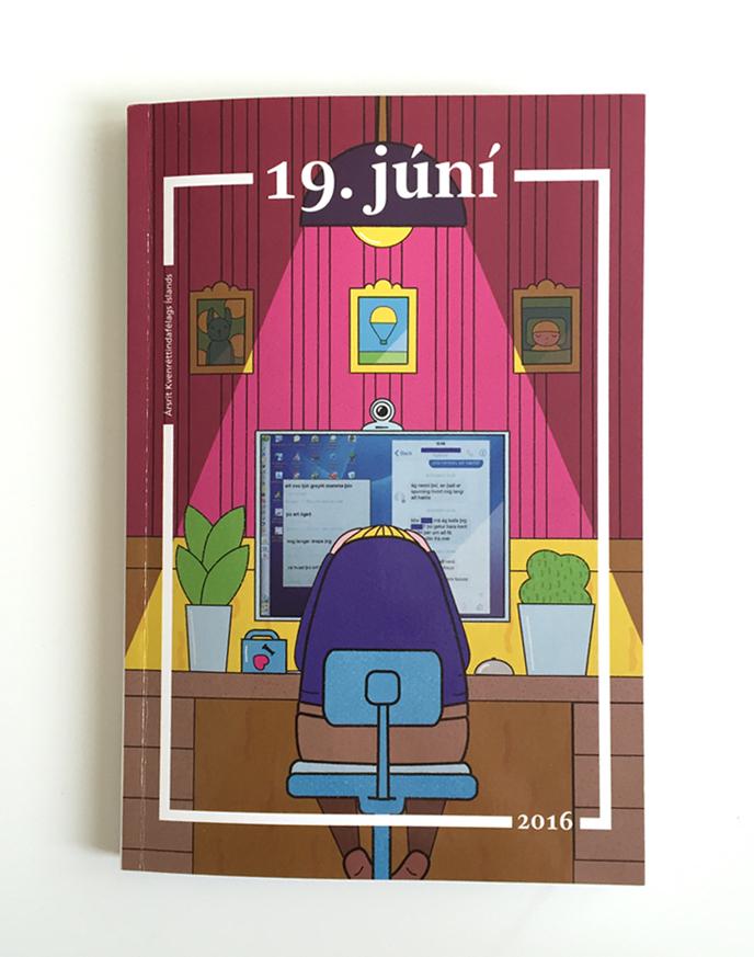 kvennréttindafélagið cover illustration