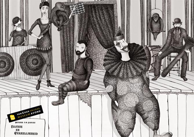 vangogh museum unfold illustration ninna