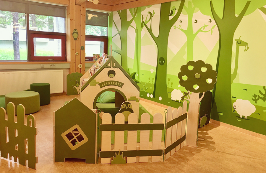 playhouse, Children's department, library, Reykjavik, play, kids, kids play area, design, childculturedesign