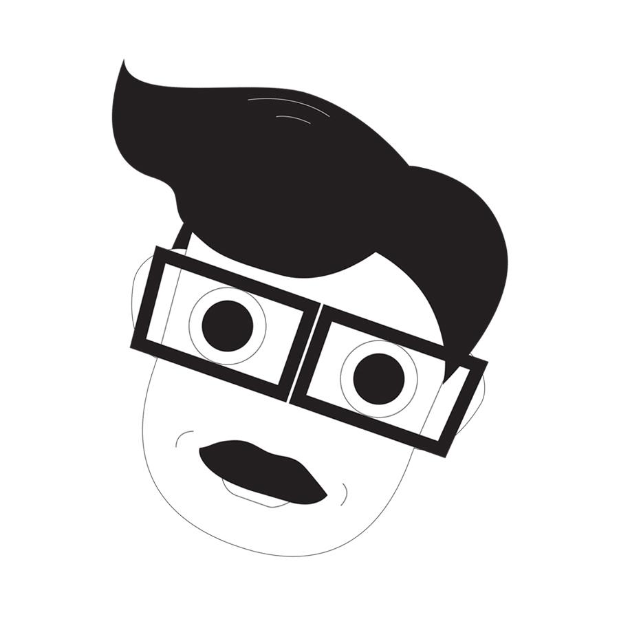 Tryggvi, librarian, library, borgarbokasafnid, illustration, graphics