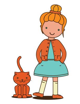 mybodyissick, girl, cat, book, cancer, illustration, skb