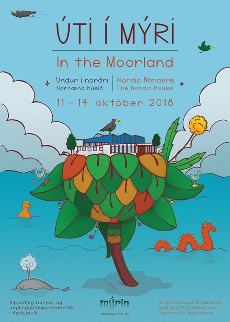 moorland, útiímýri, poster, illustration, nordichouse, nordicwonders