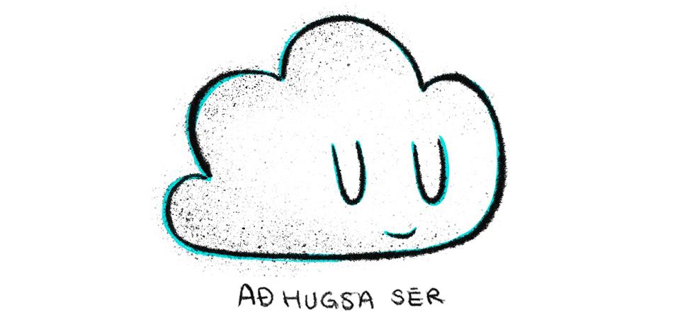 graphicdesign, grafísk hönnun, grafískur hönnuður, ský, cloud, illustration, teikning
