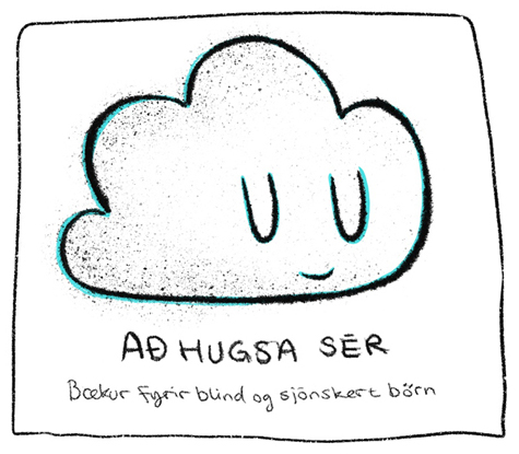 bookforblindchildren, cloud, drawing, teikning, logo, firmamerki