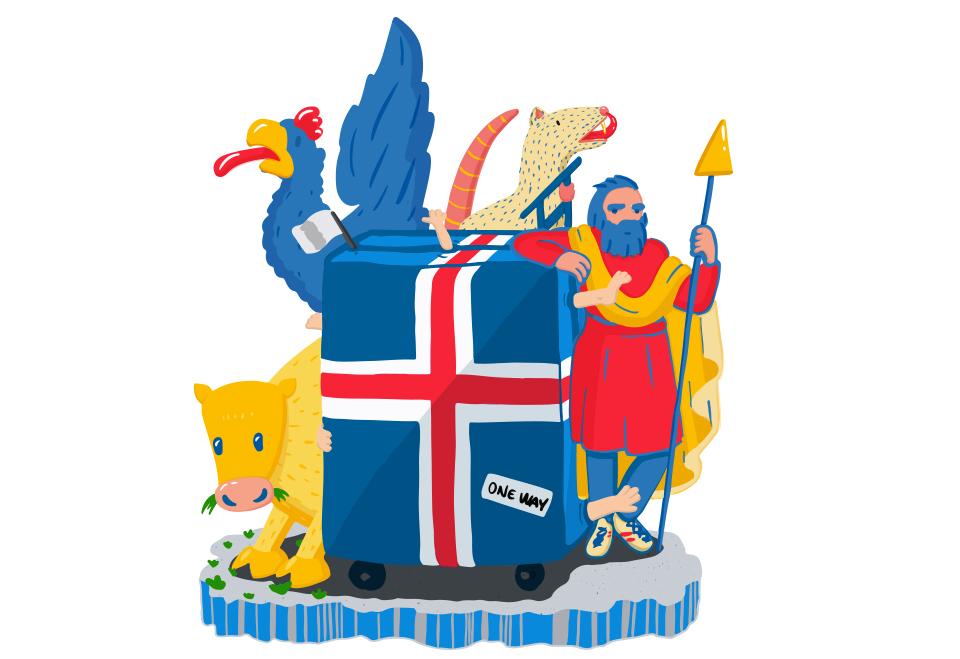 Börn eru ekki farangur, logo, illustration, freelance illustrator, teiknari, grafísk hönnun